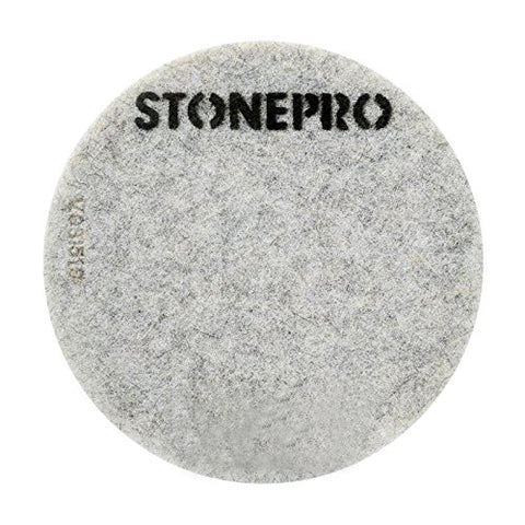 "Stone Pro 17"" Flexible Resin DOT Pads 3500 Grit - For Superior Polish On Stone, Concrete and Terrazzo"