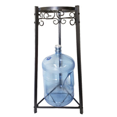 "For Your Water 32"" Metal Water Crock Dispenser Floor Stand - Black - Black / 32 Inches / Metal"