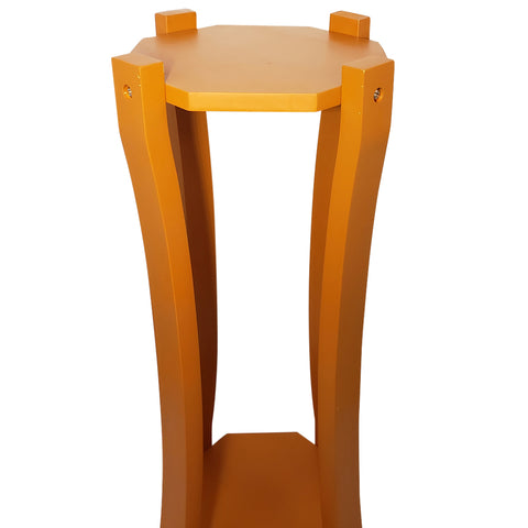 For Your Water Curved Hard Wood Painted Water Crock Dispenser Floor Stand - Dark Natural / Orange-Like
