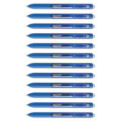 Paper Mate InkJoy Retractable Gel Pen, Medium 0.7mm, Blue Ink/Barrel, Dozen