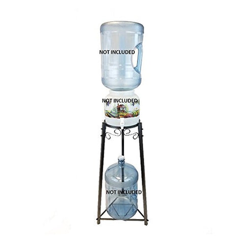 "For Your Water 32"" Metal Water Crock Dispenser Floor Stand - Green - Green / 32 Inches / Metal"