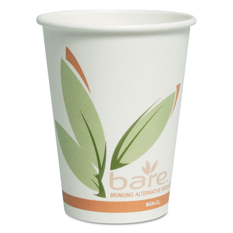 Dart Bare by Solo Eco-Forward Recycled Content PCF Paper Hot Cups, 12 oz, 300/Carton