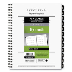 AT-A-GLANCE Executive Monthly Planner Refill, 8 3/4 x 6 5/8, White, 2020