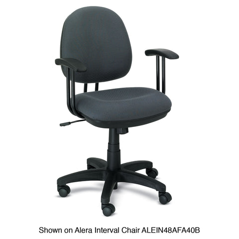 Alera Alera Fixed T-Arms for Interval and Essentia Series Chairs and Stools, Black