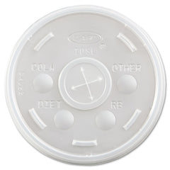 Dart Plastic Cold Cup Lids, Fits 10oz Cups, Translucent, 1000/Carton - Translucent