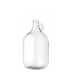 Glass Bottle with Ring Holder - Clear