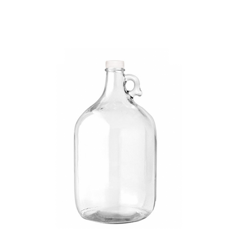 1 Gallon Glass Bottle with Ring Holder - Clear