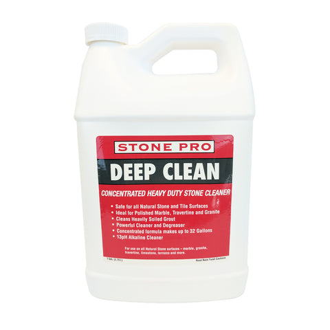 Stone Pro Deep Clean - Alkaline Heavy Duty Stone Cleaner Concentrate - 1 Gallon