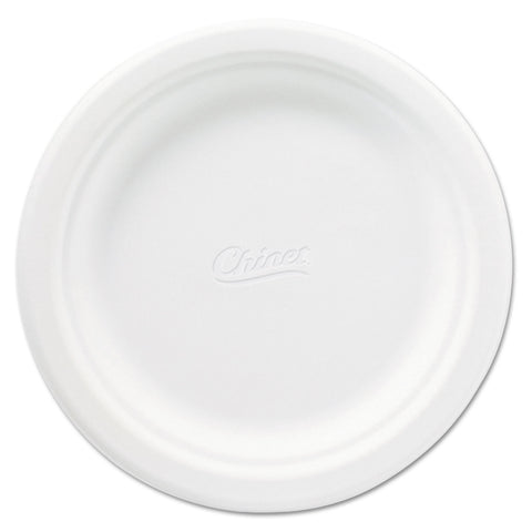 Chinet Classic Paper Plates, 6 3/4 Inches, White, Round, 125/Pack - White
