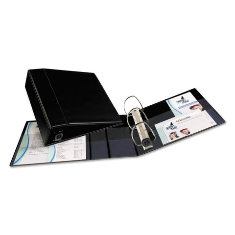 "Avery Heavy-Duty Non-View Binder with DuraHinge and Locking One Touch EZD Rings, 3 Rings, 4"" Capacity, 11 x 8.5, Black - Black / 4"""