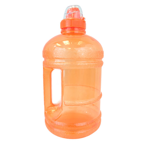 1/2 Gallon BPA Free Water Bottle with Sports Top - Orange - Orange / 1/2 Gallon / BPA Free Plastic