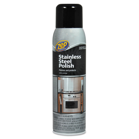 Zep Commercial Stainless Steel Polish, 14 oz Aerosol