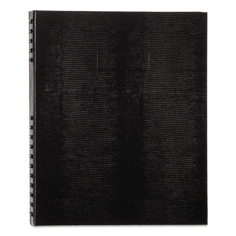Blueline NotePro Notebook, 1 Subject, Medium/College Rule, Black Cover, 11 x 8.5, 100 Sheets