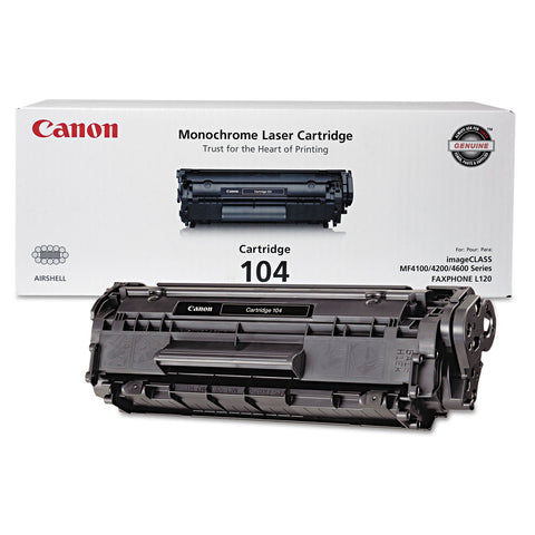 Canon 0263B001 (104) Toner, 2,000 Page-Yield, Black