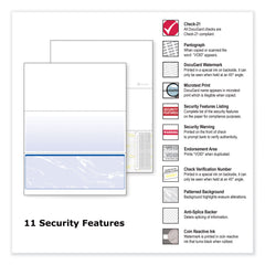 DocuGard Standard Security Check, 11 Features, 8.5 x 11, Blue Marble Bottom, 500/Ream - Blue Marble / 8.5 x 11