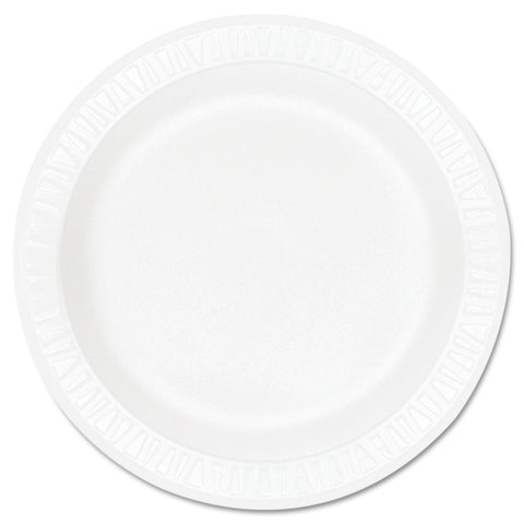 "Concorde Foam Plate, 9"" dia, White, 125/Pack, 4 Packs/Carton"