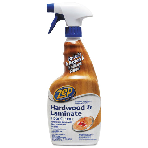 Zep Commercial Hardwood and Laminate Cleaner, 32 oz Spray Bottle
