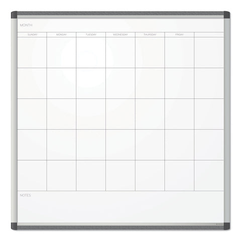 U Brands PINIT Magnetic Dry Erase Undated One Month Calendar, 36 x 36, White