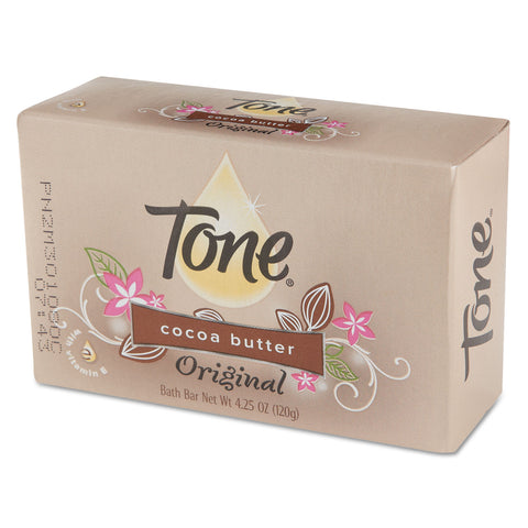 Tone Skin Care Bar Soap, Almond Color, 4 1/4 oz Individually Wrapped Bar, 48/Carton