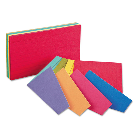 Oxford Extreme Index Cards, 4 x 6, Two-Tone Assorted, 100/Pack