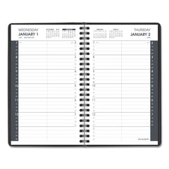 AT-A-GLANCE Daily Appointment Book with 15-Minute Appointments, 8 x 4 7/8, Black, 2020 - White / 8 x 4 7/8