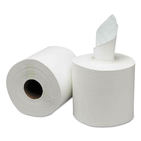 GEN Center-Pull Paper Towels, 8w x 10l, White, 600/Roll, 6 Rolls/Carton