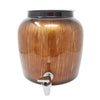 2.5 Gallon Porcelain Crock With Matching Lid - Brown Classic Paint Stroke