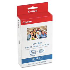 Canon 7739A001 (KC-36IP) Ink/Paper Combo, Black/Tri-Color