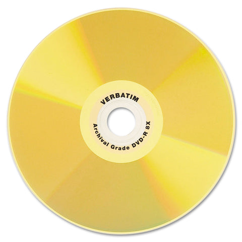 Verbatim UltraLife Gold Archival Grade w/Branded Surface DVD-R, 4.7GB/16X, 50/PK Spindle - Gold