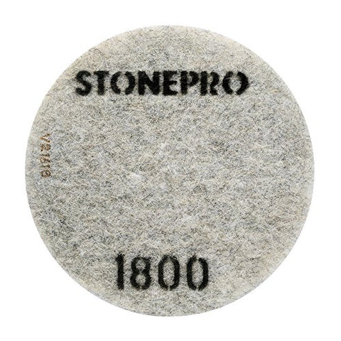 "Stone Pro 17"" Flexible Resin DOT Pads 1800 Grit - For Superior Polish On Stone, Concrete and Terrazzo"