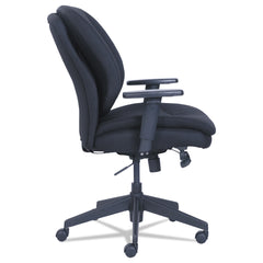 SertaPedic Cosset Ergonomic Task Chair, Supports up to 275 lbs., Black Seat/Black Back, Black Base