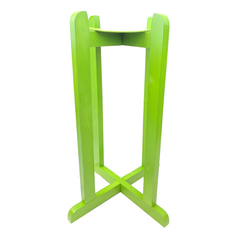 "For Your Water 27"" Natural Wood Painted Water Crock Dispenser Floor Stand - Light Green - Light Green / 27 Inches / Wood"