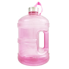 BPA Free Water Bottle w/ Stainless Steel Cap - Pink