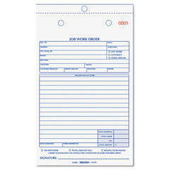 Rediform Job Work Order Book, 5 1/2 x 8 1/2, Two Part Carbonless, 50/Book