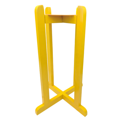 "27"" Wood Painted Stand - Yellow"