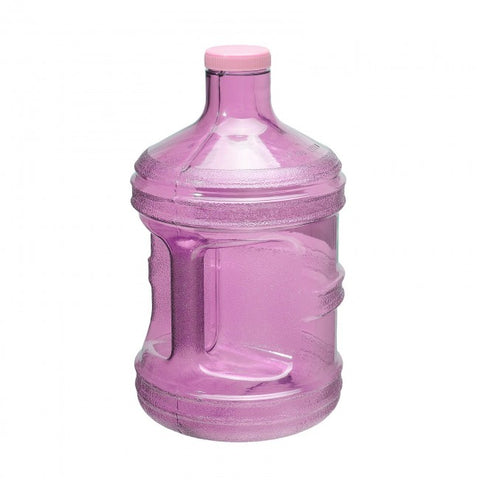 1 Gallon BPA Free Round Drinking Water Bottle - Pink - Pink / 1 Gallon / BPA Free Plastic