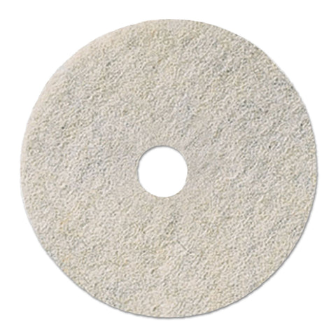 "Boardwalk Natural White Burnishing Floor Pads, 20"" Diameter, 5/Carton - White"