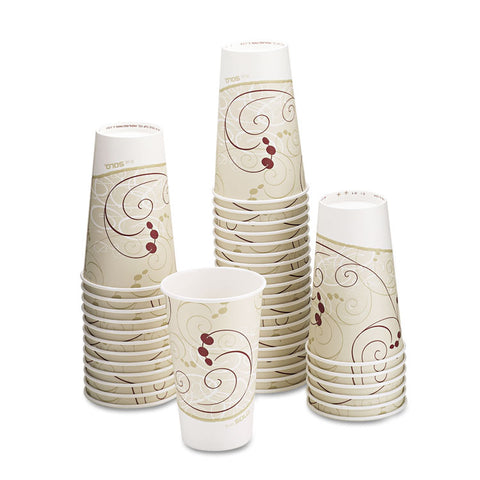 Dart Hot Cups, Symphony Design, 16oz, Beige, 1000/Carton
