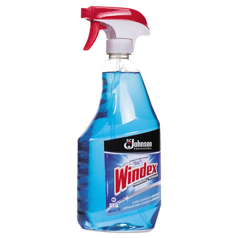 Windex Glass Cleaner with Ammonia-D, 32oz Capped Bottle with Trigger