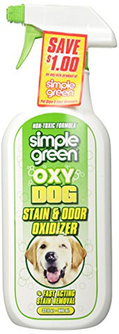 SIMPLE GREEN 432105 Oxy Stain and Odor Oxidizer Trigger for Dog, 32-Ounce