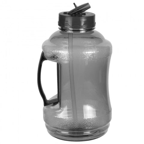 Water Bottle with Drinking Straw – Black