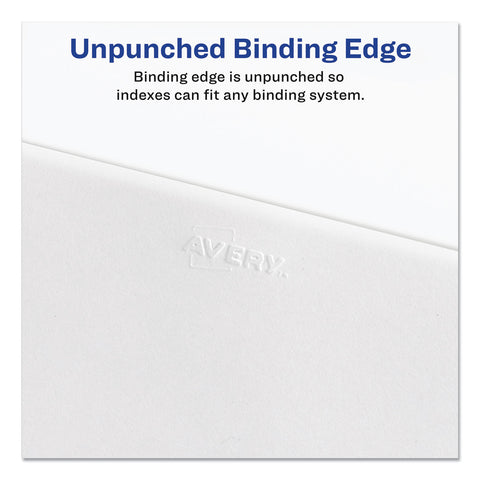 Avery Preprinted Legal Exhibit Side Tab Index Dividers, Allstate Style, 26-Tab, D, 11 x 8.5, White, 25/Pack