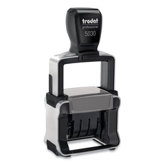 Trodat Trodat Professional Stamp, Dater, Self-Inking, 1 5/8 x 3/8, Black - Black / 1.5
