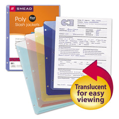 Smead Organized Up Poly Slash Jackets, 2-Sections, Letter Size, Assorted Colors, 5/Pack