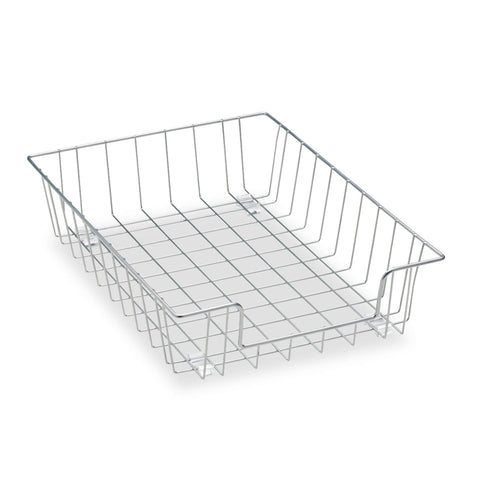 "Fellowes Wire Desk Tray Organizer, 1 Section, Letter Size Files, 10"" x 14.13"" x 3"", Silver"