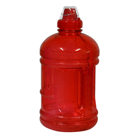 1/2 Gallon BPA Free Water Bottle with Sports Top - Red - Red / 1/2 Gallon / BPA Free Plastic - Red / 1/2 Gallon / BPA Free Plastic