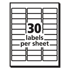 Avery Matte Clear Easy Peel Mailing Labels w/ Sure Feed Technology, Laser Printers, 1 x 2.63, Clear, 30/Sheet, 25 Sheets/Box