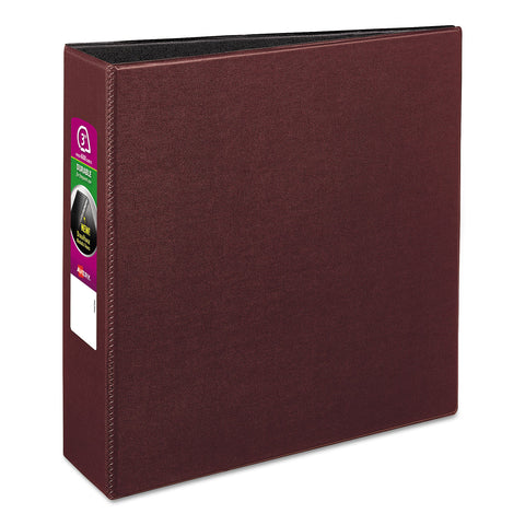 "Avery Durable Non-View Binder with DuraHinge and Slant Rings, 3 Rings, 3"" Capacity, 11 x 8.5, Burgundy"