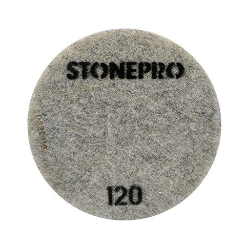 "Stone Pro 17"" Flexible Resin DOT Pads 120 Grit - For Superior Polish On Stone, Concrete and Terrazzo"