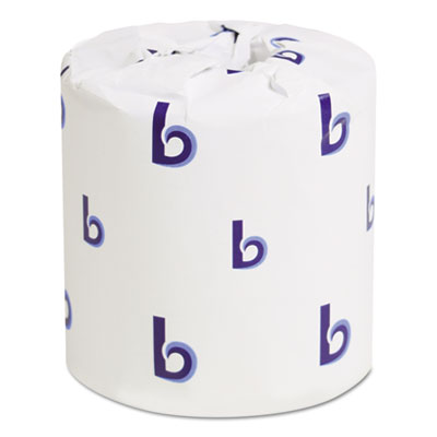 Boardwalk Two-Ply Toilet Tissue, White, 4 x 3 Sheet, 400 Sheets/Roll, 96 Rolls/Carton